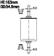 AIKO Топливный фильтр JG 618 для Daewoo, Opel ,Volkswagen