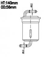 AIKO Топливный фильтр JN 9102 для Suzuki, Kia, BMW