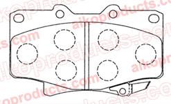 Тормозные колодки AIKO PN 1242 для Toyota