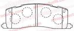 Тормозные колодки AIKO PN 1274R для Toyota