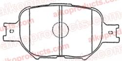 Тормозные колодки AIKO PN 1430/PN 1442 для Toyota