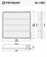 TOTACHI Воздушный фильтр TA-1381 для Toyota
