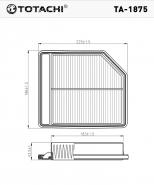 TOTACHI Воздушный фильтр TA-1875 для Honda
