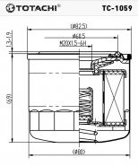 TOTACHI Масляный фильтр TC - 1059 для Subaru