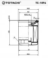 TOTACHI Масляный фильтр TC - 1096 для Honda, Aсura, Nissan
