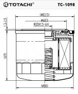TOTACHI Масляный фильтр TC - 1098  для Subaru, Isuzu