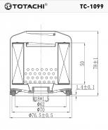 TOTACHI Масляный фильтр TC - 1099 для Chevrolet (GM), Daewoo, Holden, Opel
