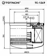 TOTACHI Масляный фильтр TC-1249 для Lada