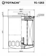 TOTACHI Масляный фильтр TC - 1253 для Hyundai, Kia,Mazda