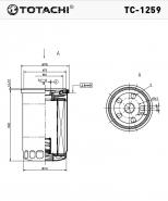 TOTACHI Масляный фильтр TC-1259 для  Mercedes
