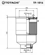 TOTACHI Топливный фильтр TF-1016 для Hino, Toyota, Mazda