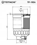 TOTACHI Топливный фильтр TF-1024 Nissan